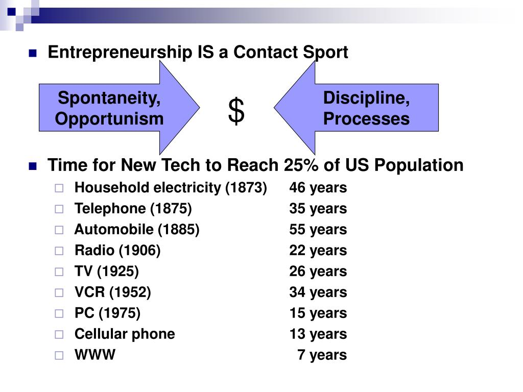 Entrepreneurship IS a Contact Sport