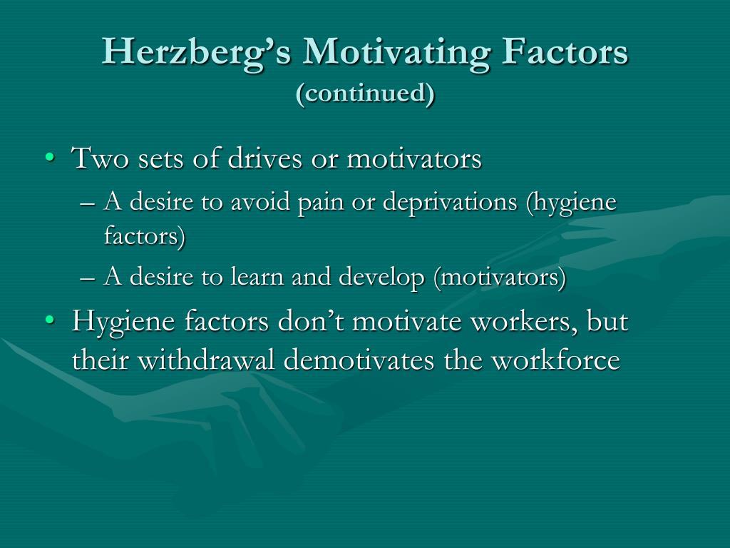 Herzberg's Motivating Factors