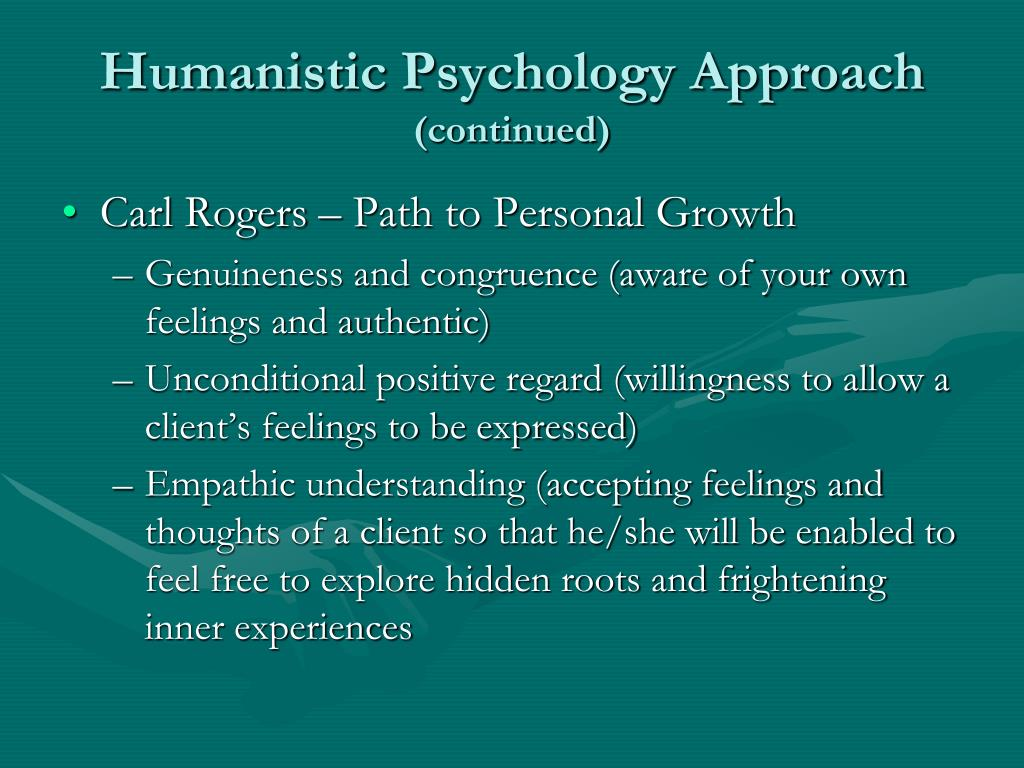 Humanistic Psychology Approach
