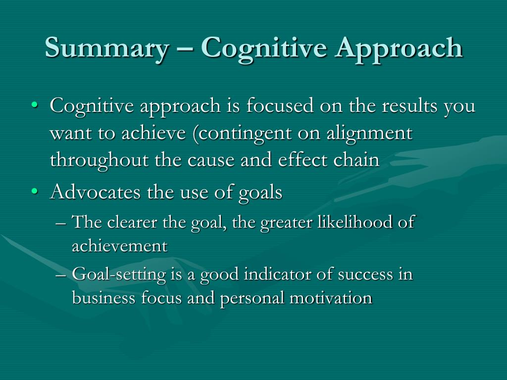 Summary – Cognitive Approach