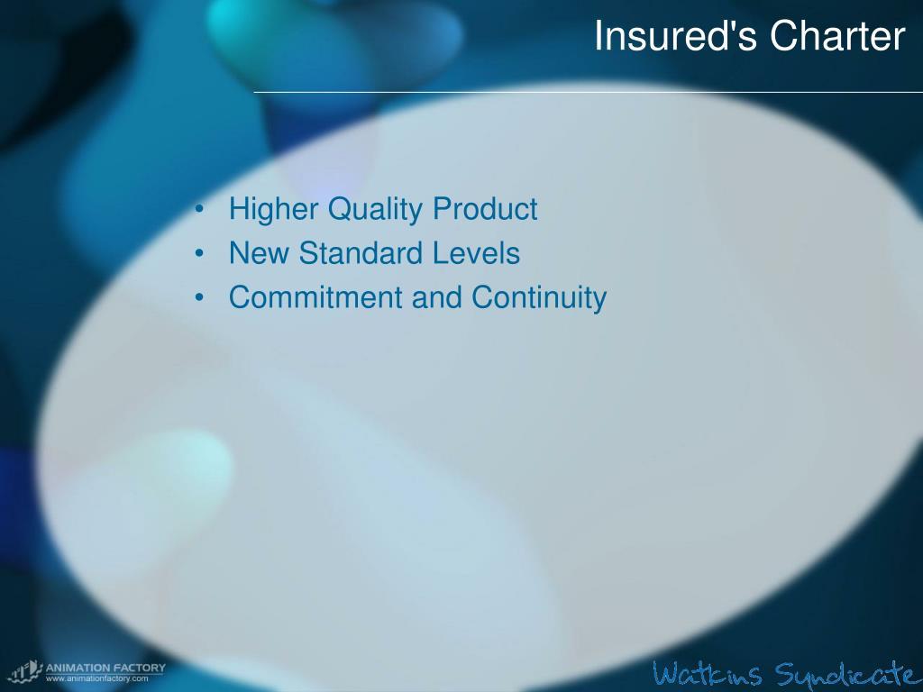 Insured's Charter