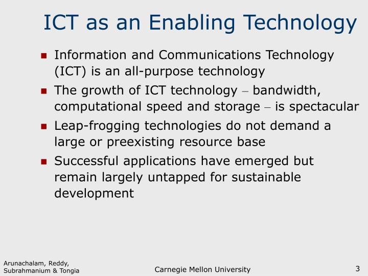 Ict as an enabling technology