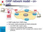 casp network model on path