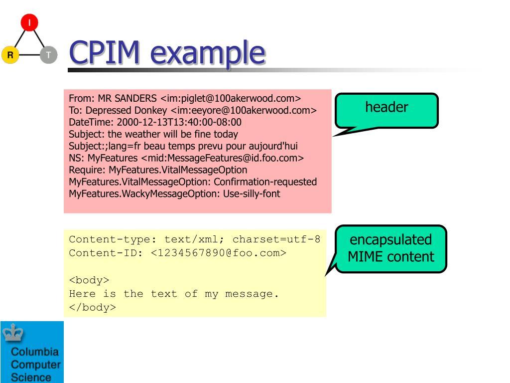 CPIM example