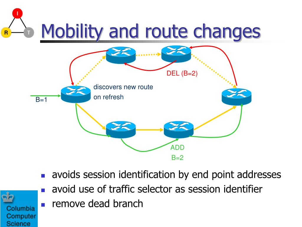 Mobility and route changes