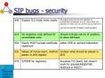 sip bugs security