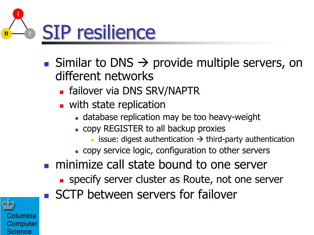 SIP resilience
