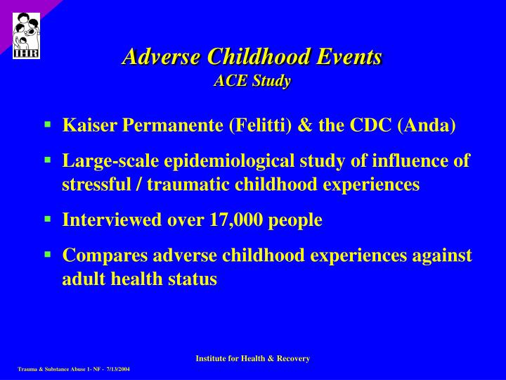 Adverse Childhood Events