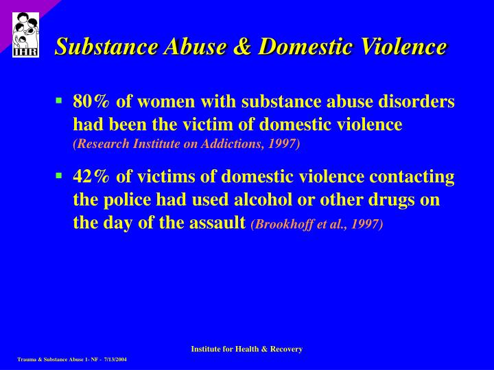 Substance Abuse & Domestic Violence