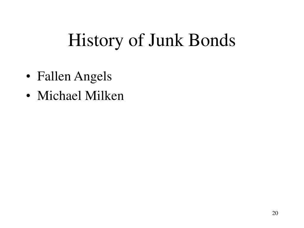 History of Junk Bonds