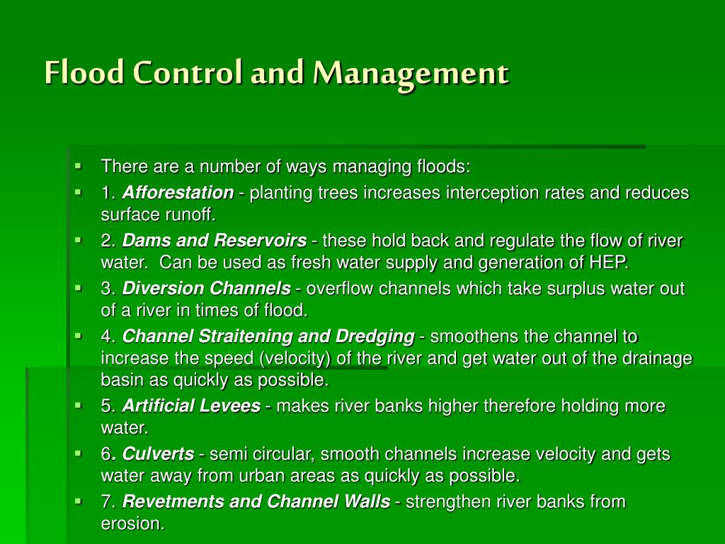 Flood Control and Management