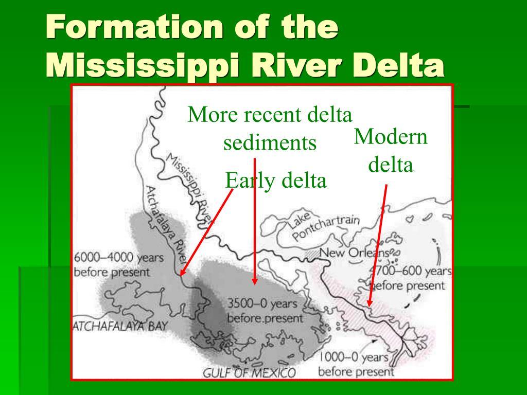 Formation of the Mississippi River Delta