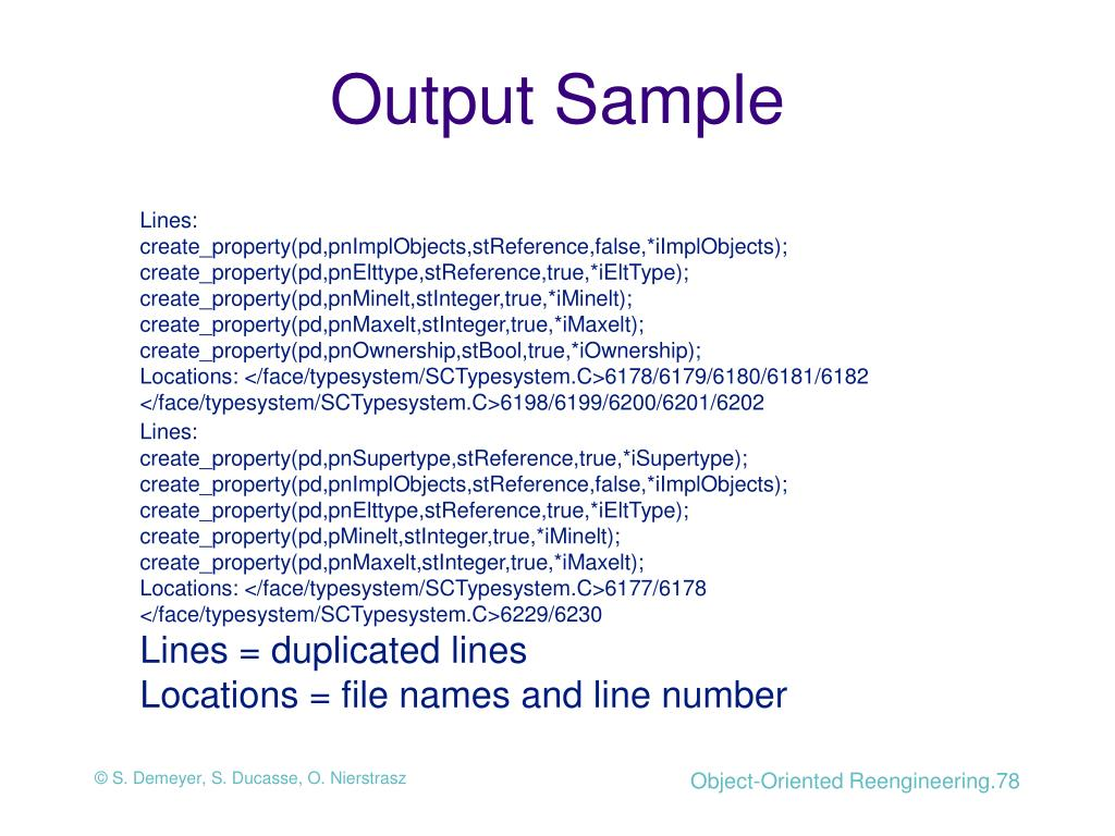Output Sample