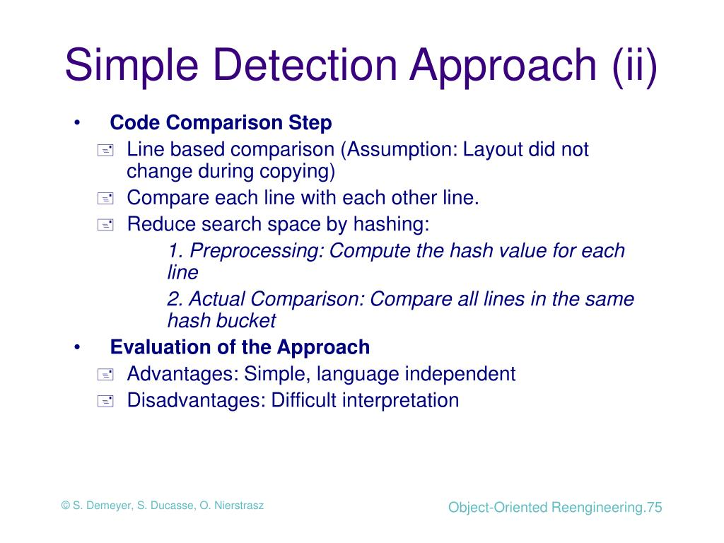 Simple Detection Approach (ii)