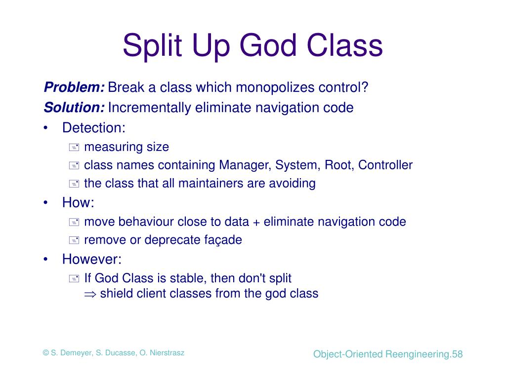 Split Up God Class