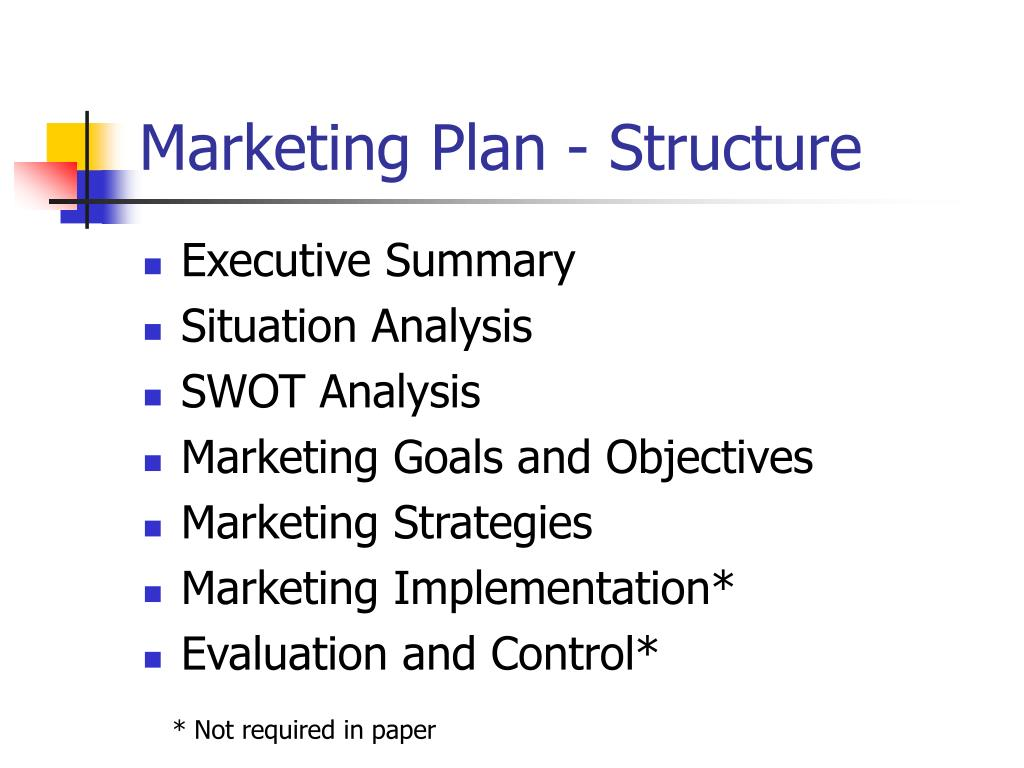 Marketing Plan - Structure