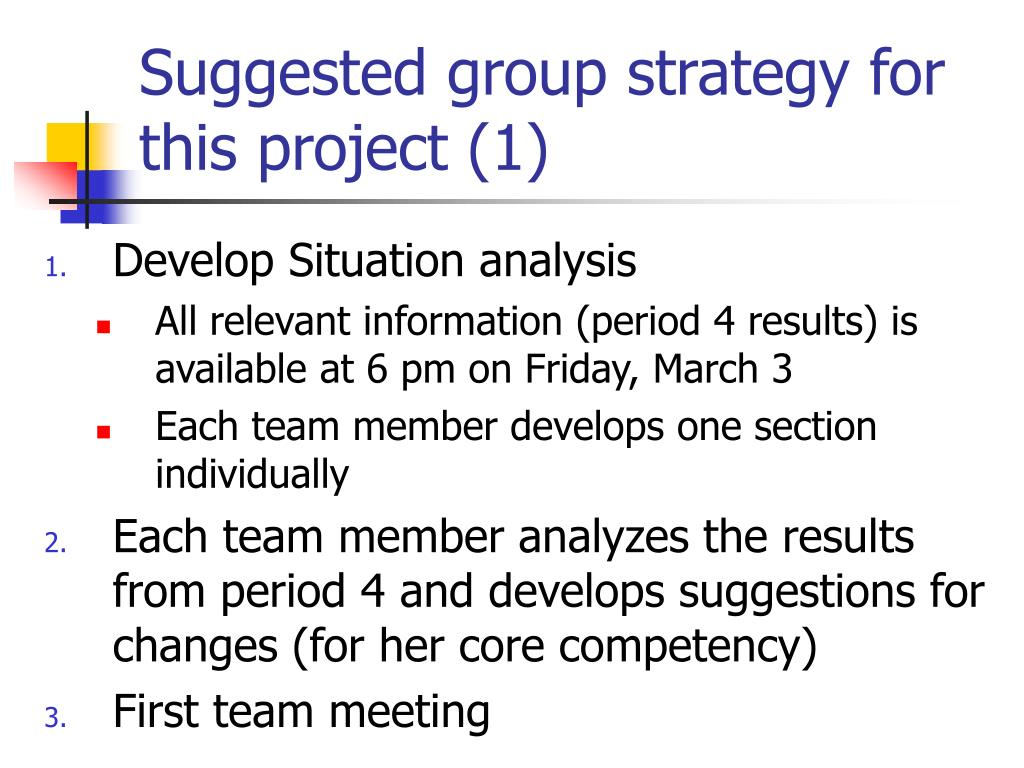 Suggested group strategy for this project (1)