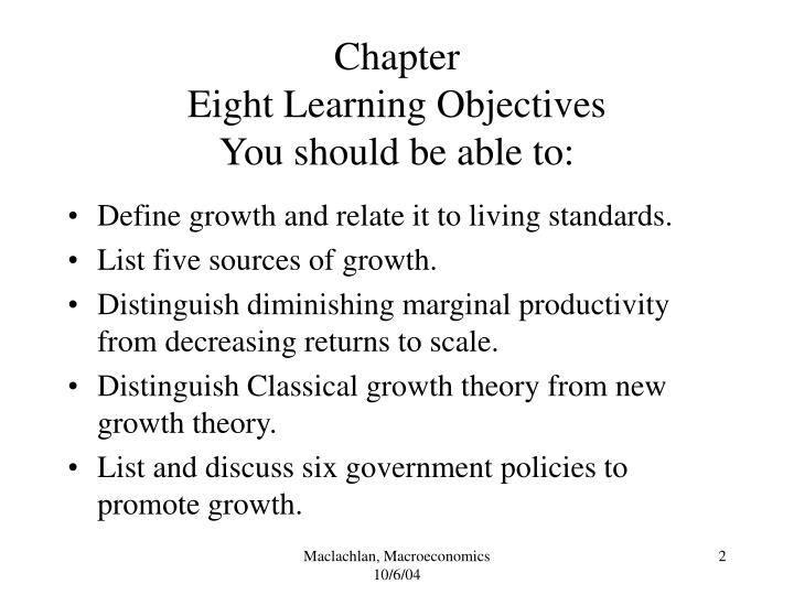Chapter eight learning objectives you should be able to