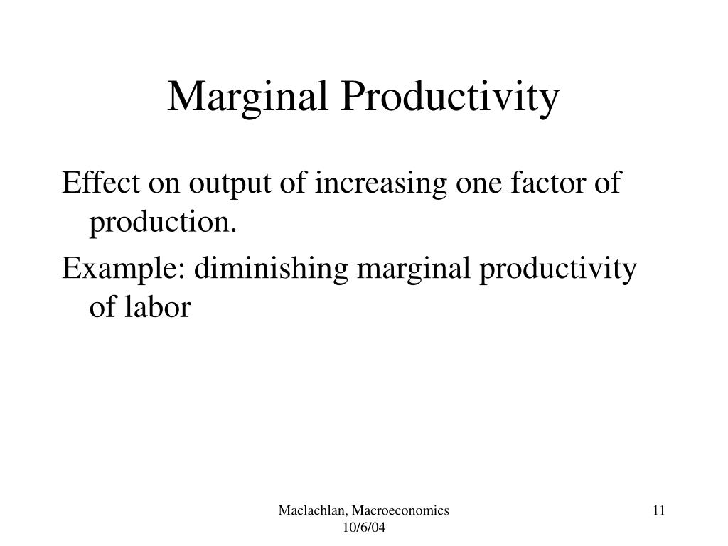 Marginal Productivity