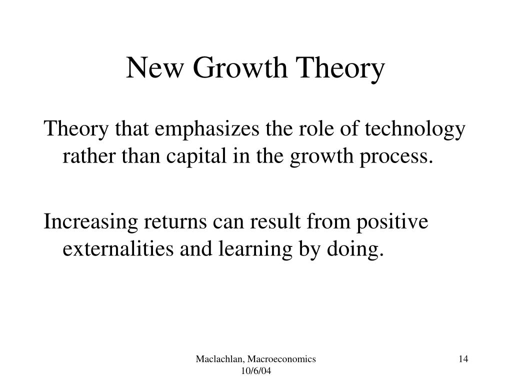 New Growth Theory