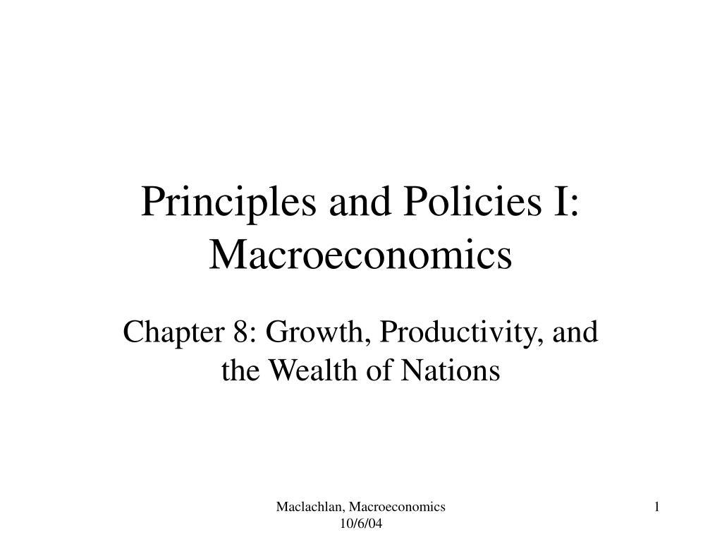 principles and policies i macroeconomics