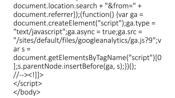 "<script type=""text/javascript""> <!--//--><![CDATA[//><!-- var _gaq = _gaq    [];_gaq.push([""_setAccount"", ""UA-16354188-7""]);_gaq.push([""_setDomainName"", "".earthsciences.iupui.edu""]);_gaq.push([""_trackPageview"", ""/404.html?page="" + document.location.pathname + document.location.search + ""&from="" + document.referrer]);(function() {var ga = document.createElement(""script"");ga.type = ""text/javascript"";ga.async = true;ga.src = ""/sites/default/files/googleanalytics/ga.js?9"";var s = document.getElementsByTagName(""script"")[0];s.parentNode.insertBefore(ga, s);})(); //--><!]]> </script> </body>"