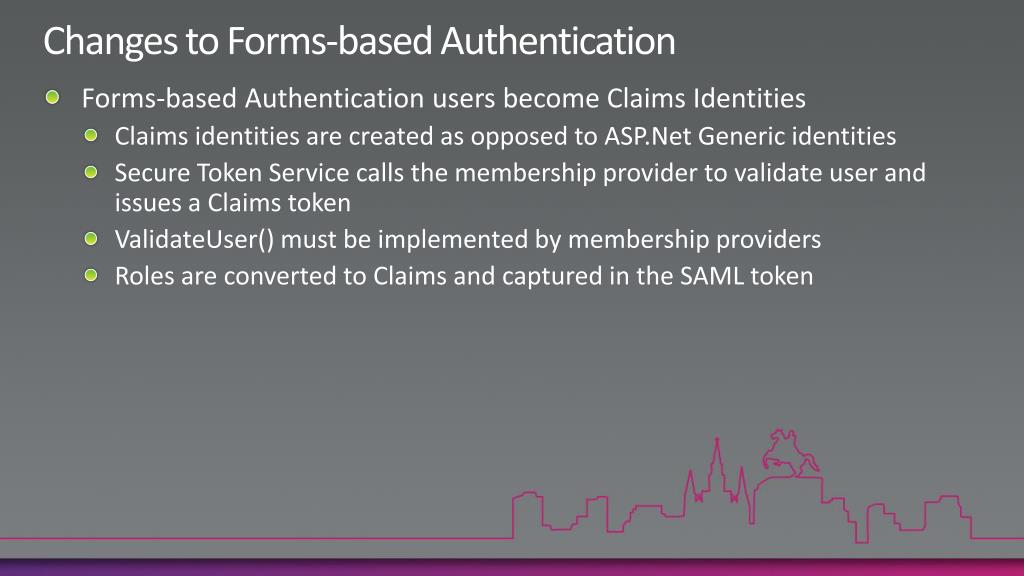 Changes to Forms-based Authentication