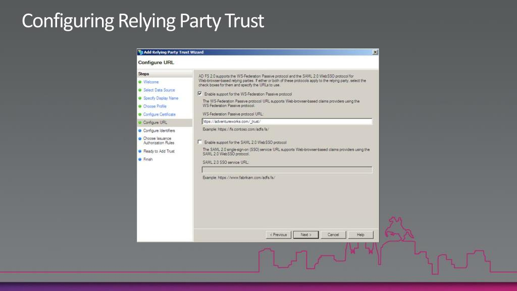 Configuring Relying Party Trust
