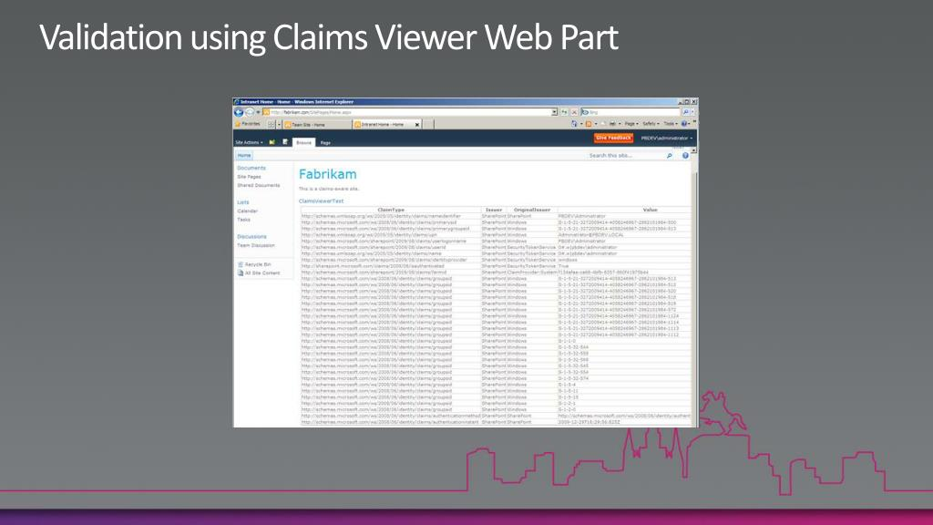 Validation using Claims Viewer Web Part