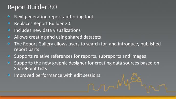 Report Builder 3.0