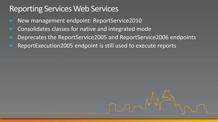 Reporting Services Web Services