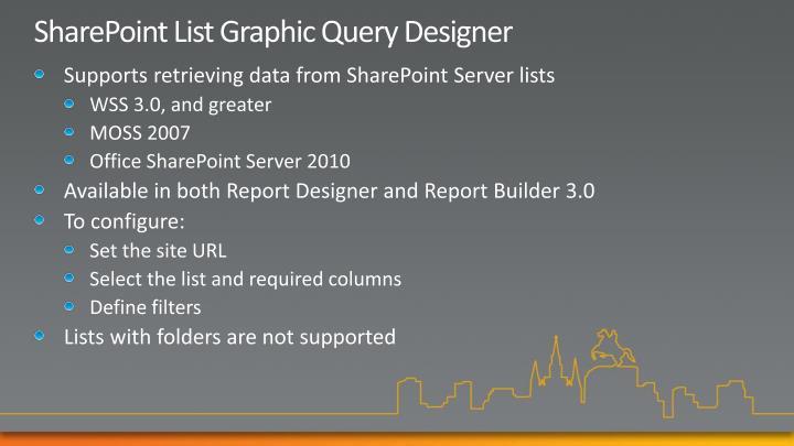 SharePoint List Graphic Query Designer