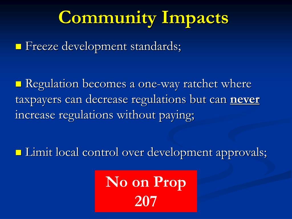 Community Impacts