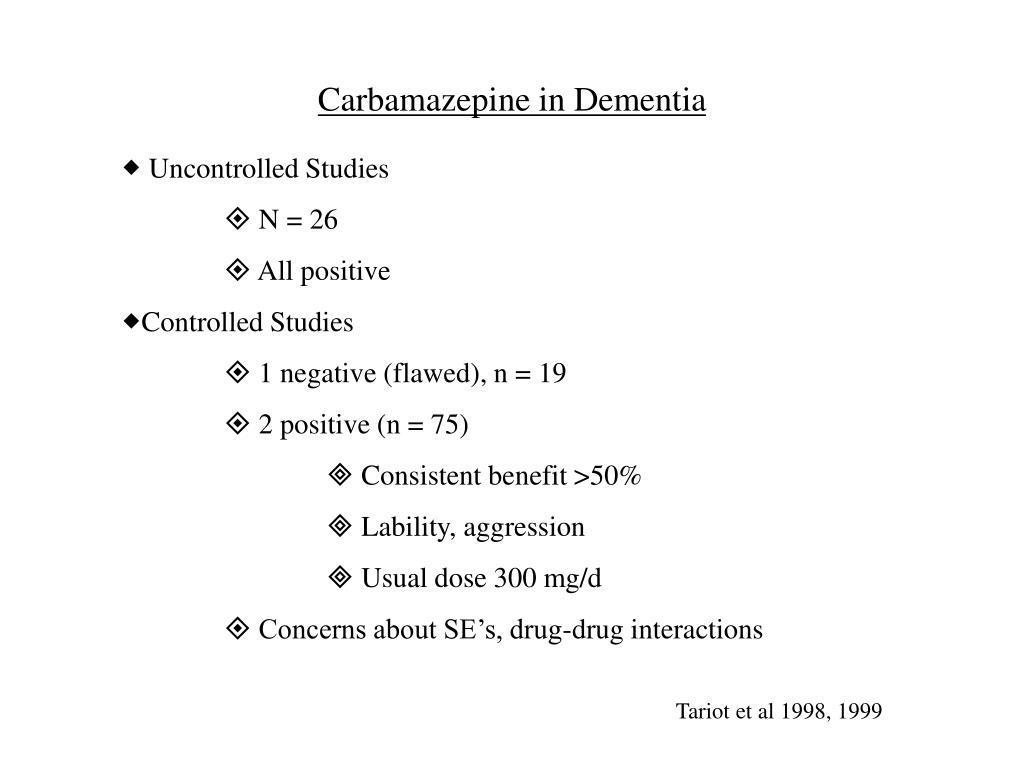 Carbamazepine in Dementia
