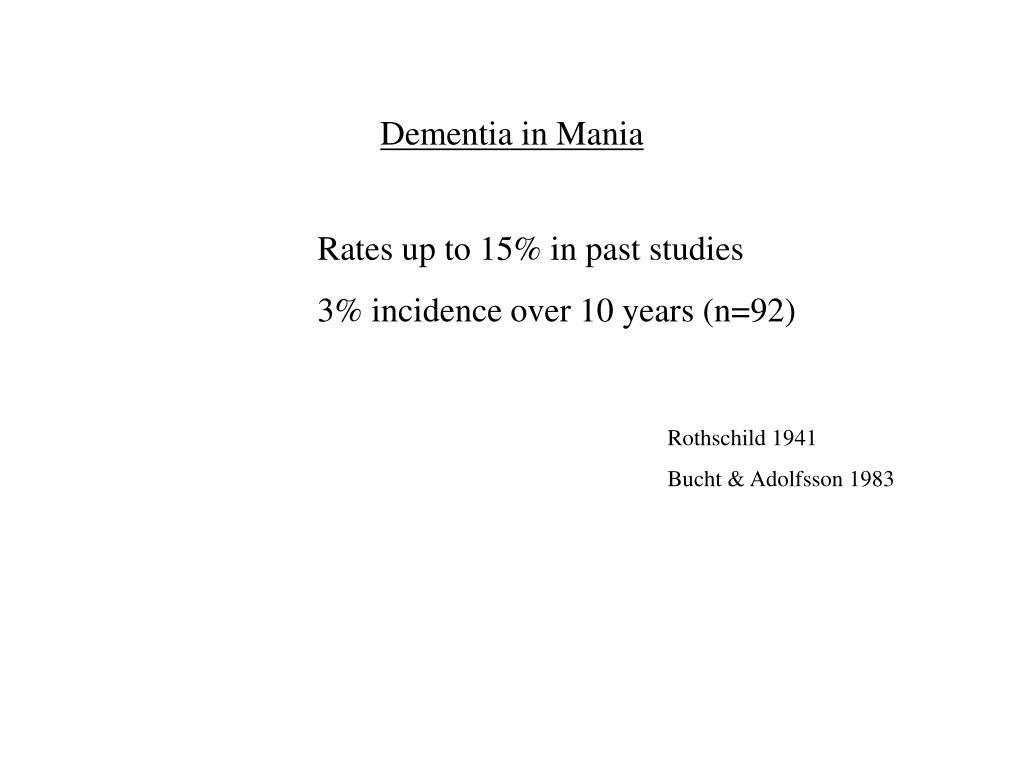 Dementia in Mania