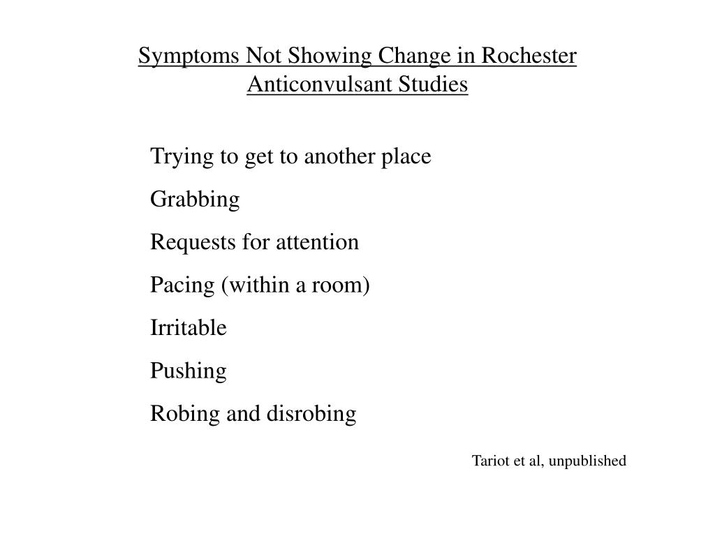 Symptoms Not Showing Change in Rochester
