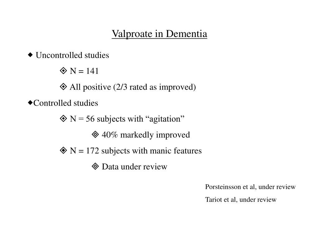 Valproate in Dementia