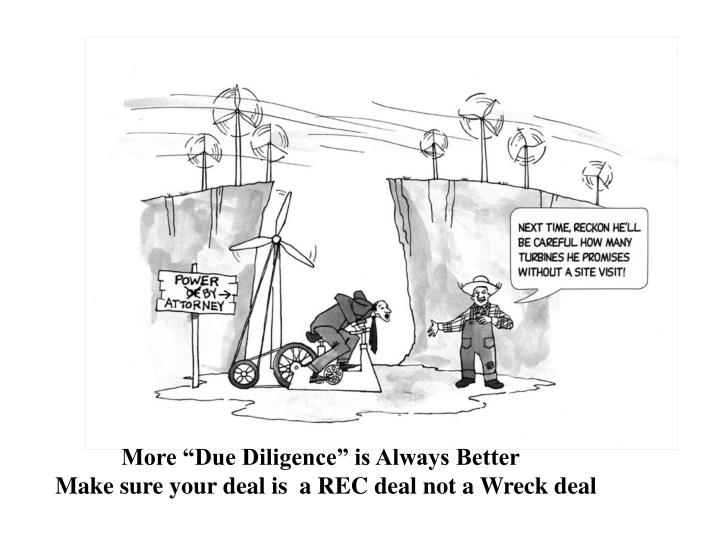 """More """"Due Diligence"""" is Always Better"""