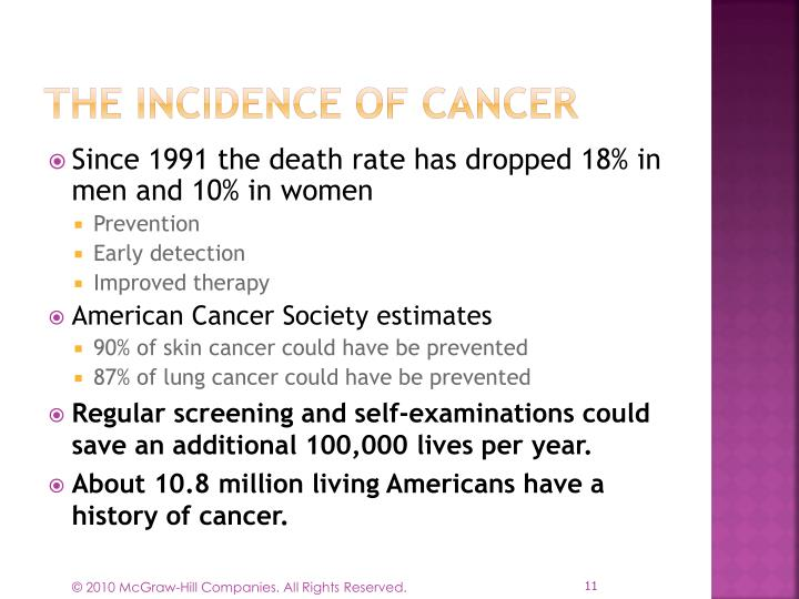 The Incidence of Cancer