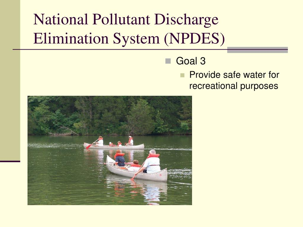 National Pollutant Discharge Elimination System (NPDES)