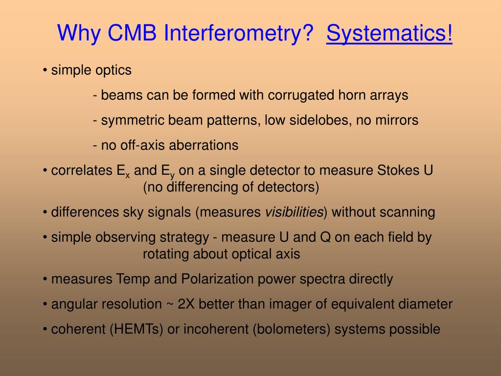 Why CMB Interferometry?