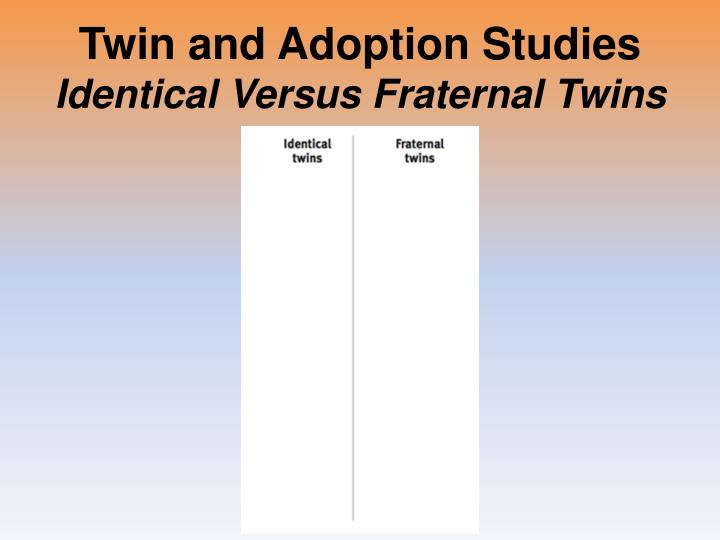Twin and Adoption Studies