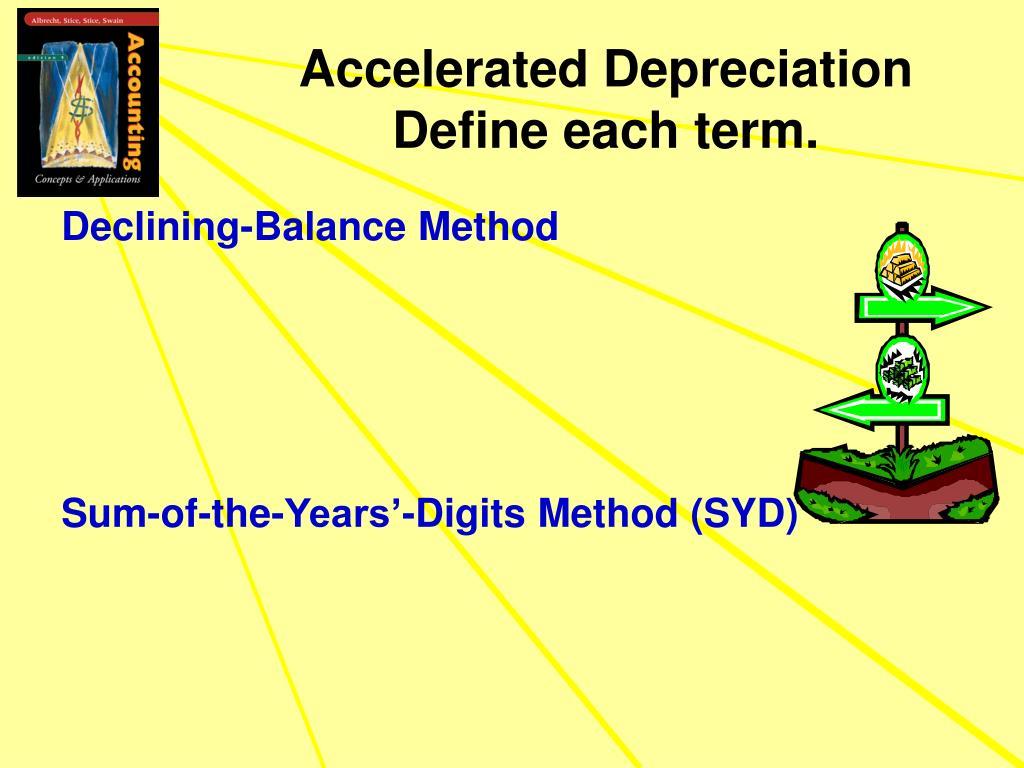 Accelerated Depreciation