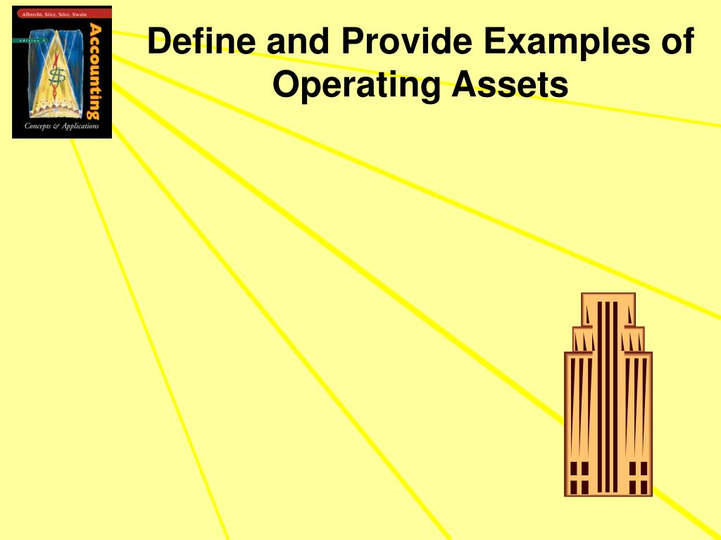 Define and Provide Examples of Operating Assets