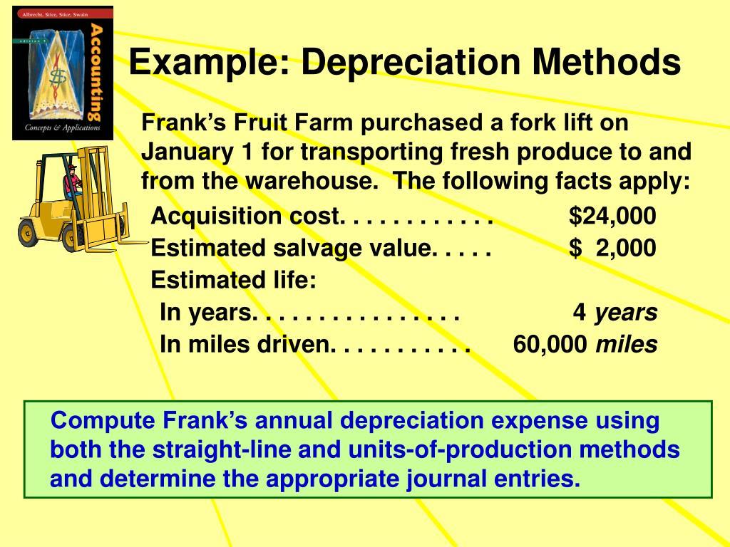Example: Depreciation Methods