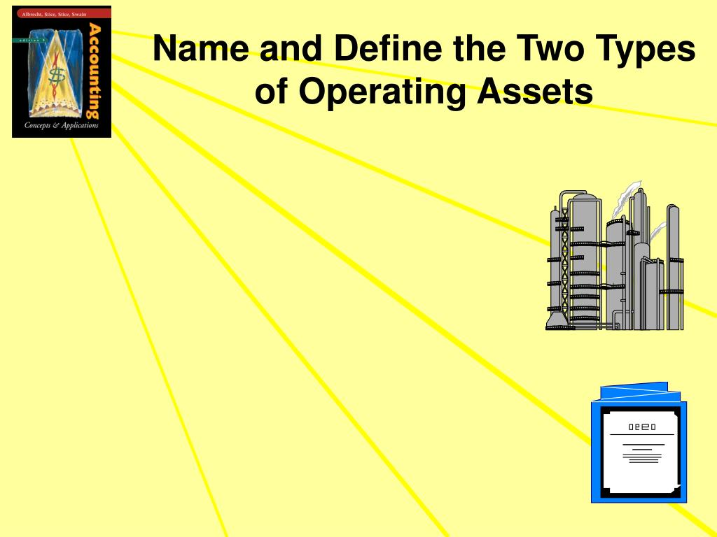 Name and Define the Two Types  of Operating Assets
