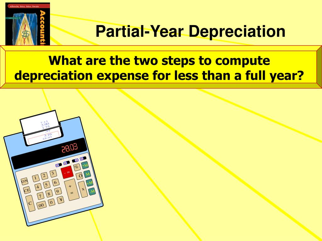What are the two steps to compute depreciation expense for less than a full year?