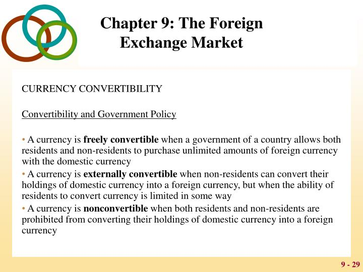 CURRENCY CONVERTIBILITY