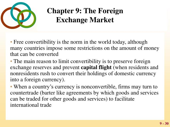 Free convertibility is the norm in the world today, although many countries impose some restrictions on the amount of money that can be converted