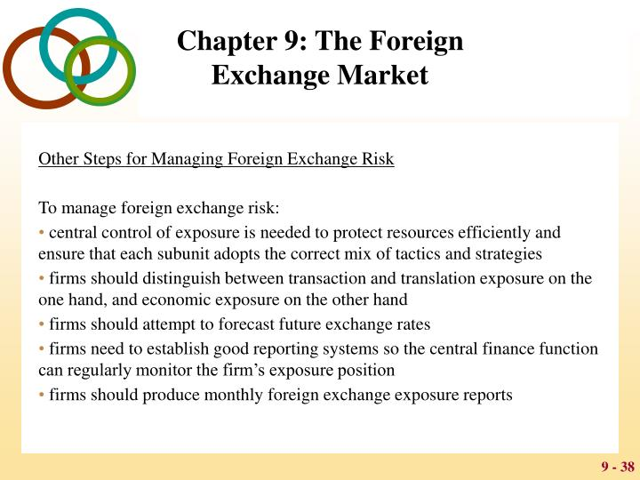 Other Steps for Managing Foreign Exchange Risk